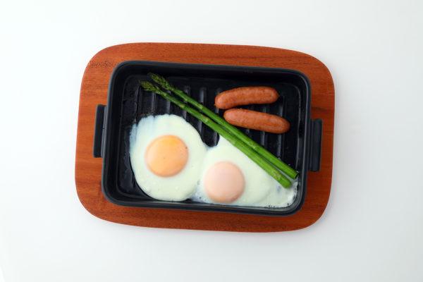 1.魚焼きグリルで15分の朝食プレート