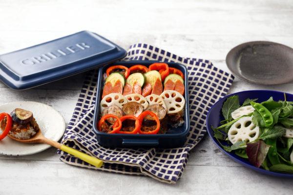 【基本のグリラーレシピ2】カラフル野菜の蒸し焼きカレードリア