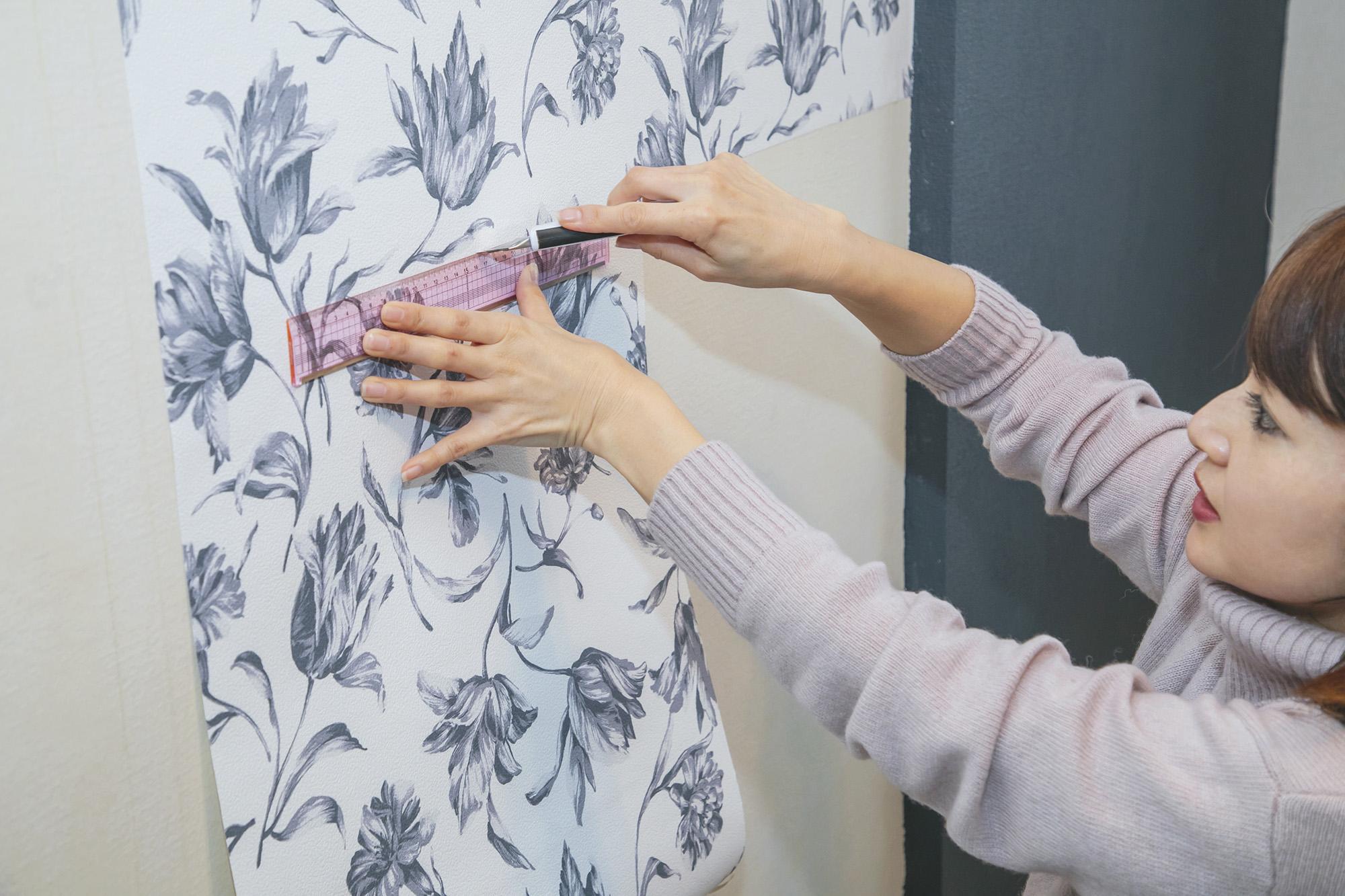 短時間で簡単にできる Francfrancの シール壁紙 で春の模様替え