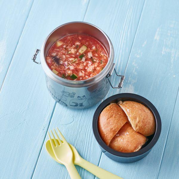 トマトジュースで簡単「ガスパチョ」お弁当レシピ