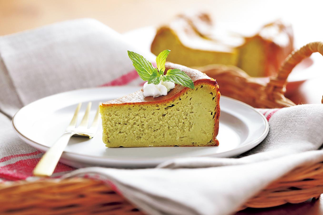 ユーグレナグリーンパウダーでチーズケーキ