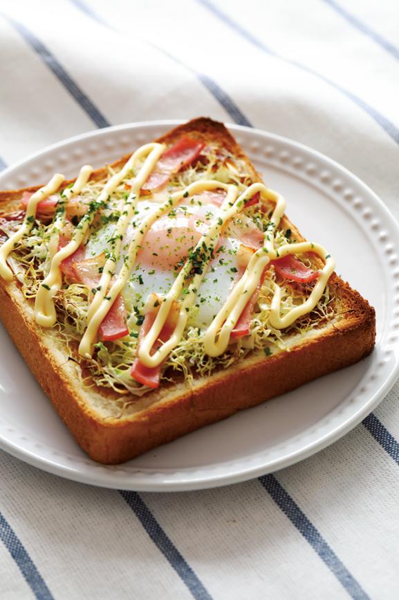 お好み焼き風トースト