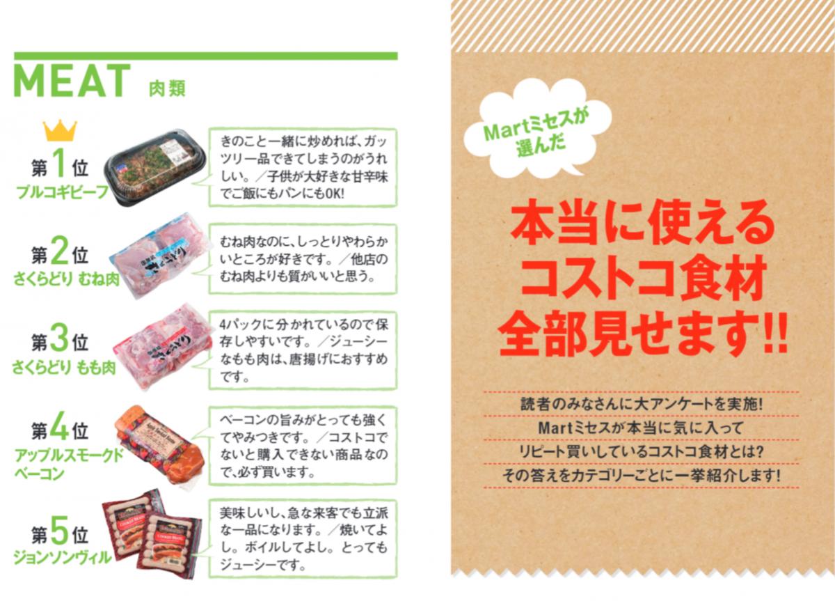 Mart読者が選ぶコストコの使える食材ランキング。肉部門の2位と3位がさくらどり。